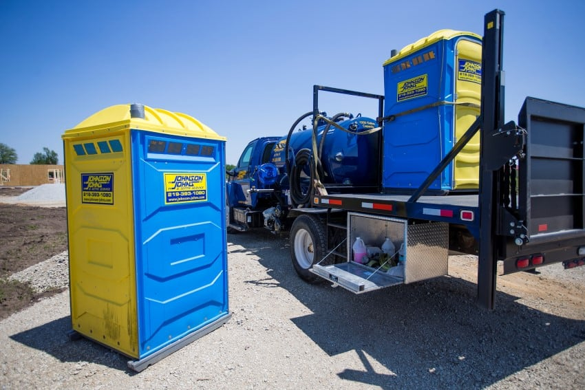 Portable Restrooms of various types and sizes