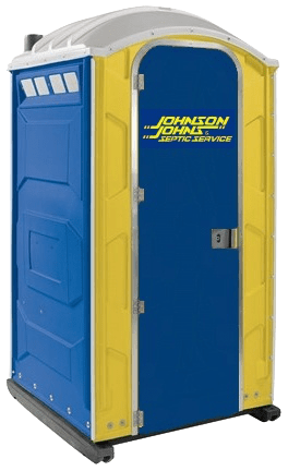 A porta potty that comes standard with a sink