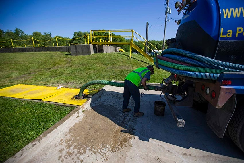 Septic services emptying of septic truck - Septic Services in Porter County